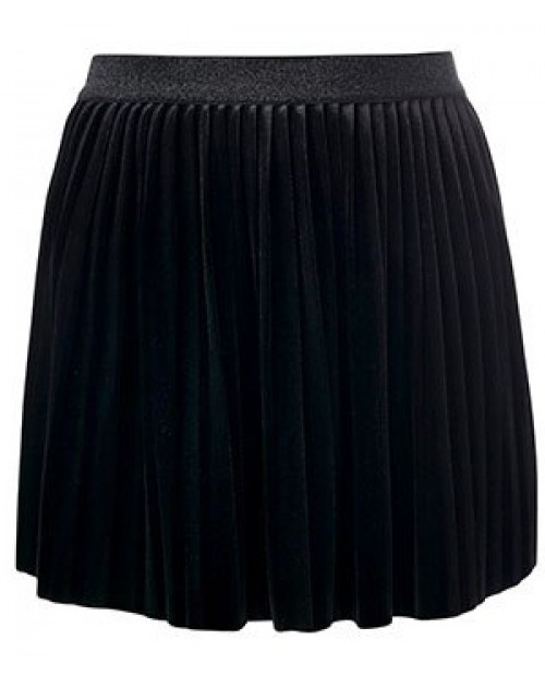 Velvet black plissé skirt