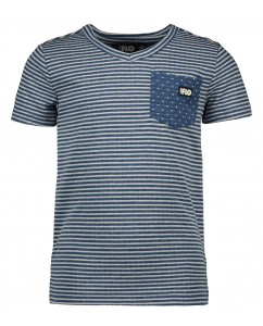 T-shirt boys stripe dot indigo