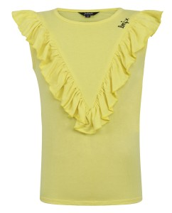 Top ruffle yellow