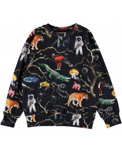 Sweater Mik - Tree Of Life Black