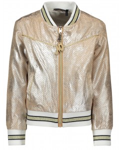 Jacket perforated suede