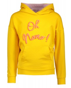 Kissy hooded sweater warm yellow Oh Nono