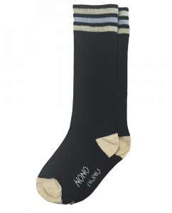 Splash long sock with stripes at top