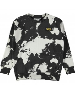 Sweater Madsim World map dark