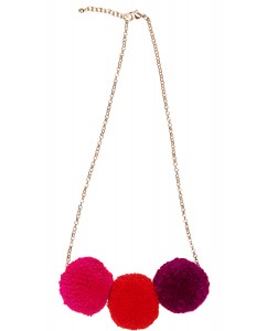 Pooky Necklace Coral Red