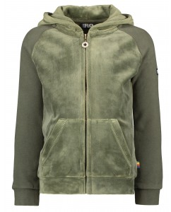 Hooded Vest Moss velvet sweat
