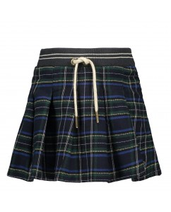 Rok Navy Pleated Skirt