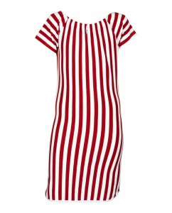 Dress red stripe