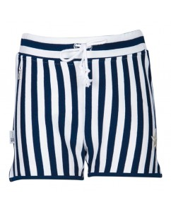 Short dark blue stripe